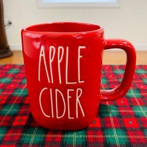 Rae Dunn APPLE CIDER red mug